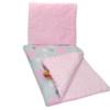 Chmurki różowe na szarym / Różowe minky
